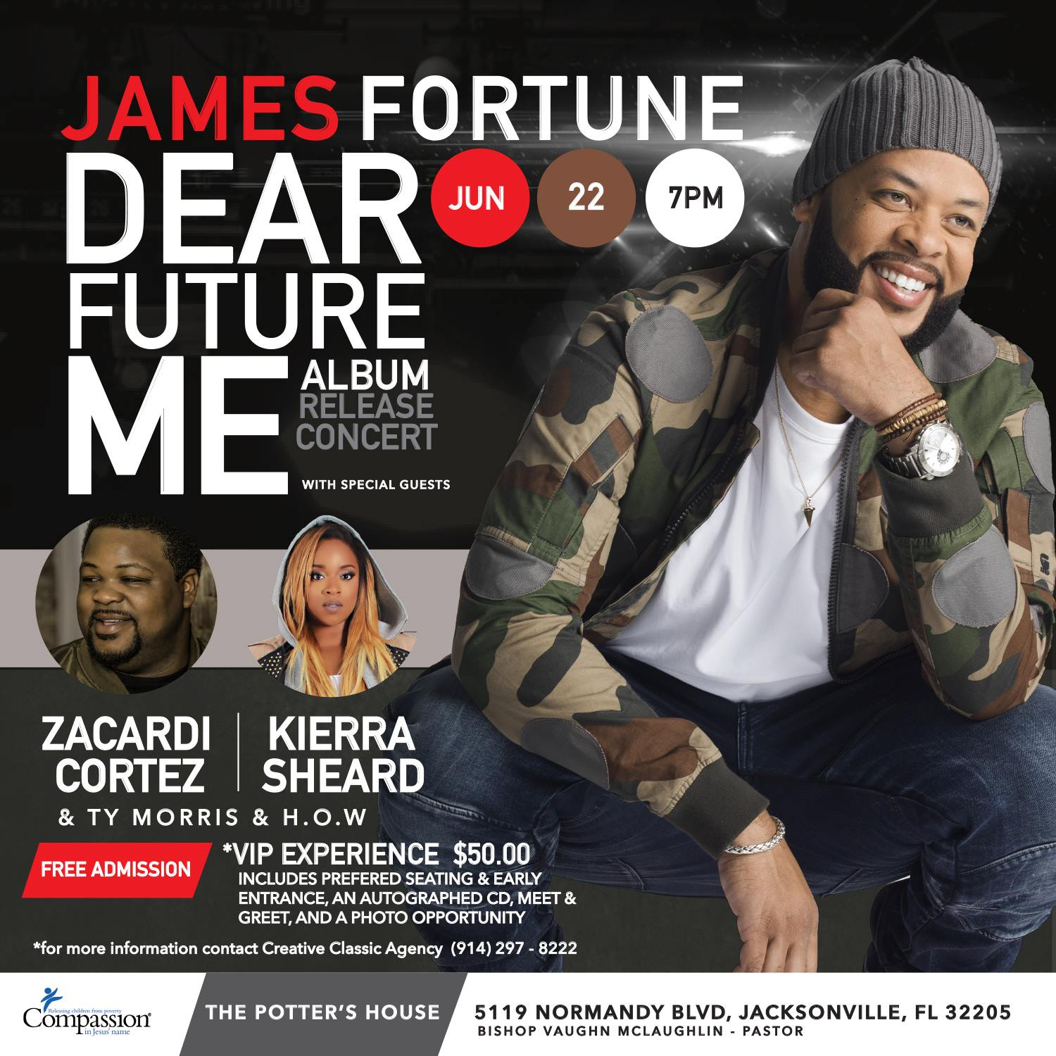 "James Fortune ""Dear Future Me"" Album Release Jacksonville, FL"
